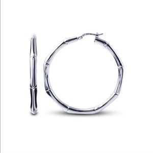 Charles Garnier Sterling Silver Hoops 35mm